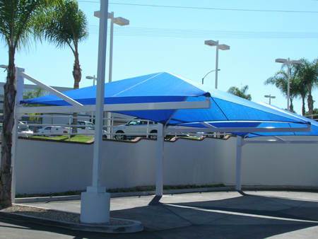 Shade structures for parking
