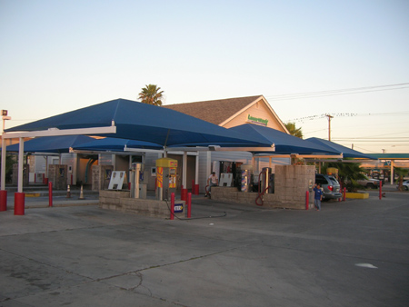 Car wash shade structures