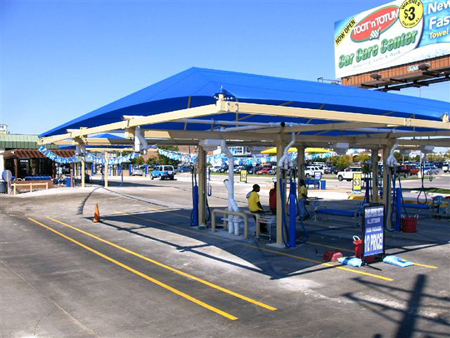 Car wash shade structures 2