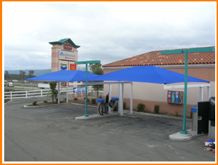 Specifically HDPE Fabric Is Recommended For Car Wash Awnings This Because Porous And Thus Lowers The Temperatures Below Shade Structures Up