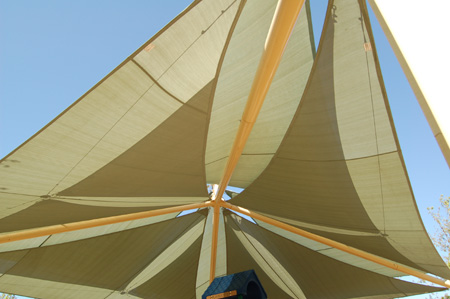 Windmill shade structure