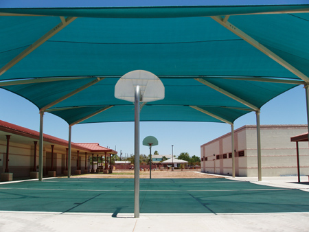basketball court canopy