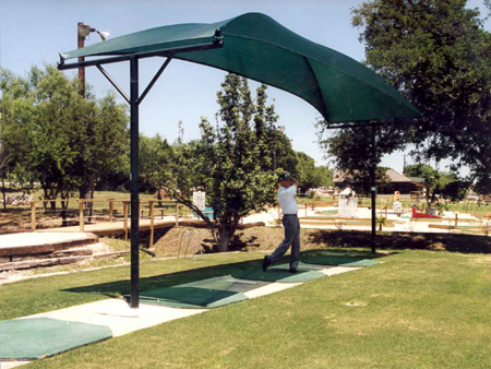 shade structures at golf course