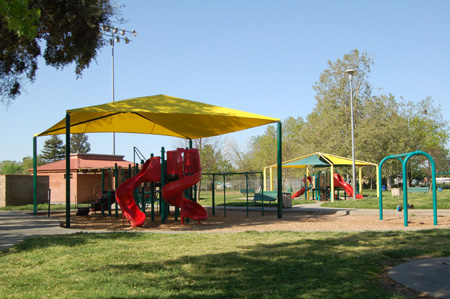 shade structures for a park